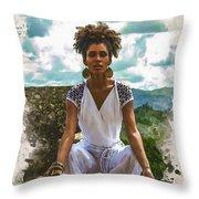 The Art Of Yoga Throw Pillow
