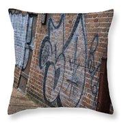 The Art On The Brick Throw Pillow
