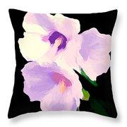 The Artful Hibiscus Throw Pillow