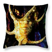 The Arthritic Spider Conch Seashell Throw Pillow