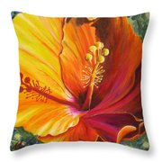 The Artisan Hibiscus Throw Pillow