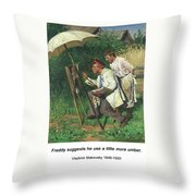 The Artist And The Apprentice  Throw Pillow