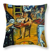 The Artist And The Fortune Teller Throw Pillow