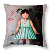 The Artist-beginning Of A Child Prodigy Throw Pillow