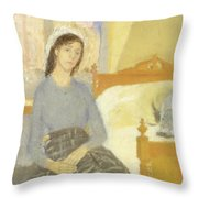 The Artist In Her Room In Paris Throw Pillow