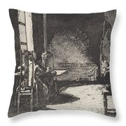The Artist In His Mother's Room, Danzig Throw Pillow