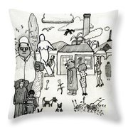 The Artist In Search Of Inspiration Throw Pillow
