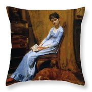 The Artist Wife And His Setter Dog 1889 Throw Pillow
