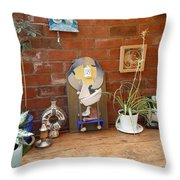 The Artists Bench Throw Pillow