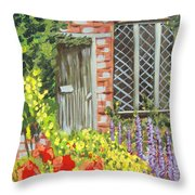 The Artist's Cottage Throw Pillow
