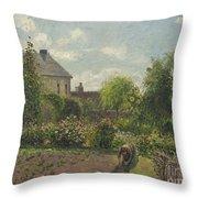 The Artist's Garden At Eragny Throw Pillow