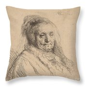 The Artist's Mother, Head And Bust Throw Pillow