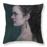 The Artist's Muse Throw Pillow