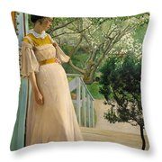 The Artist's Wife Throw Pillow