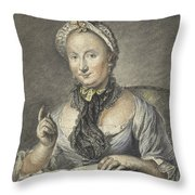 The Artist's Wife With A Book Throw Pillow