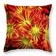Chrysanthemum Bouquet Throw Pillow