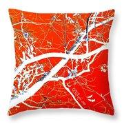 The Asian Tree Throw Pillow