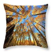 The Aspens Above - Colorful Colorado - Fall Throw Pillow