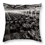 The Assembly Plant Of The Bell Aircraft Corporation In 1944 Throw Pillow