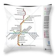 The Atlanta Pubway Map Throw Pillow