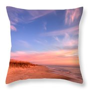 The Atlantic Coast At Sunrise Throw Pillow
