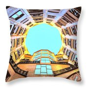 The Atrium At Casa Mila Throw Pillow