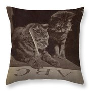 The Attentive Pupil Throw Pillow