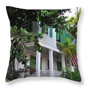 The Audubon House - Key West Florida Throw Pillow