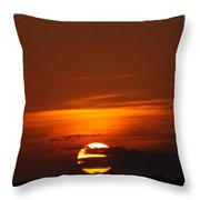 The August Sunset Throw Pillow by Rebecca Cearley
