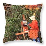 The Autumn Painter Throw Pillow