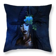 The Autumn Witch 02 Throw Pillow