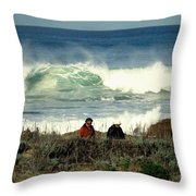 The Awesome Pacific In All Her Glory Throw Pillow