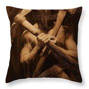 The Axe Man Throw Pillow