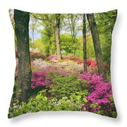 The Azalea Woodland Throw Pillow