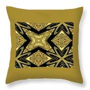 The Aztec Golden Treasures Throw Pillow