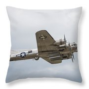 The B-17 Bomber Throw Pillow