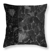 The B And W Wall Throw Pillow