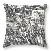The Babylonian Whore Throw Pillow