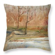 The Back Field Creek Throw Pillow