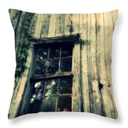 The Back Of An Old House On My Farm Throw Pillow