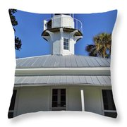 The Back Of The Lighthouse Throw Pillow