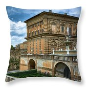The Back Of The Pitti Palace In Florence Throw Pillow