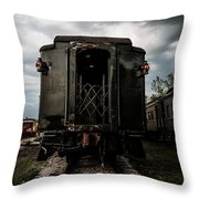 The Back Of The Train Throw Pillow