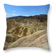 The Badlands Of Death Valley Throw Pillow