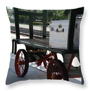 The Baggage Cart And Truck Throw Pillow