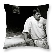 The Baker Throw Pillow by Dave Bowman