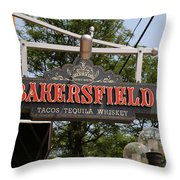 The Bakersfield Sign Throw Pillow
