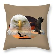 The Bald Eagle 2 Throw Pillow