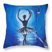 The Ballerina Dance Throw Pillow