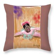 The Ballerina Throw Pillow